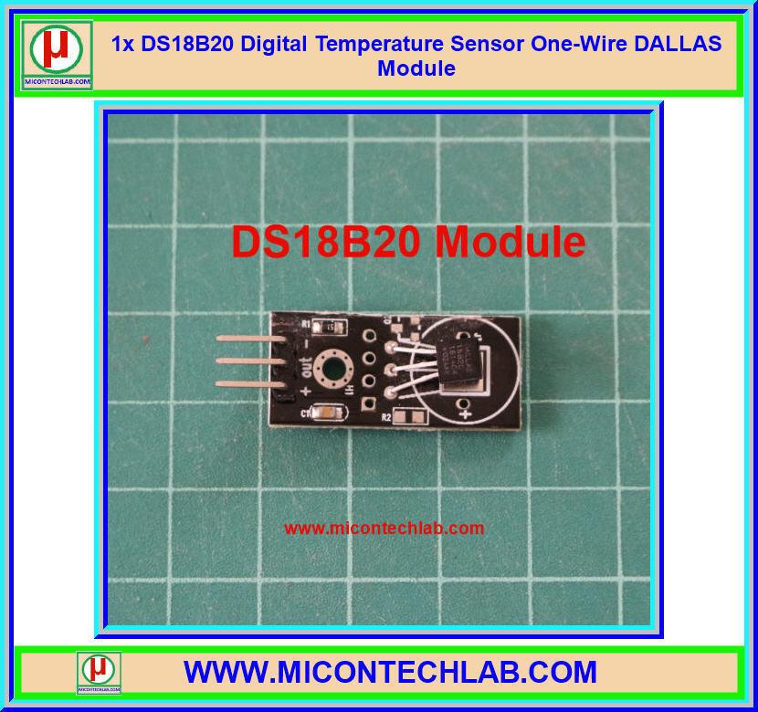 1x เซ็นเซอร์อุณหภูมิ DS18B20 Digital Temperature Sensor DALLAS