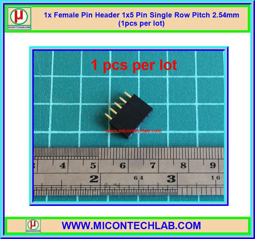 1x Female Pin Header 1x5 Pin Single Row Pitch 2.54mm (1pcs per lot)