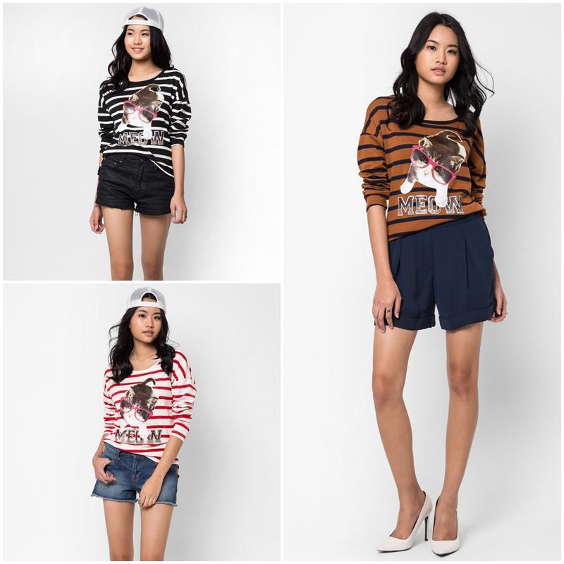เสื้อยืด Stripe Print