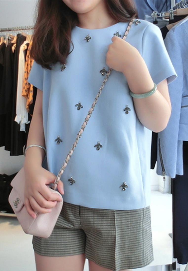 เสื้อเบลาส์ Elena Sky Blue